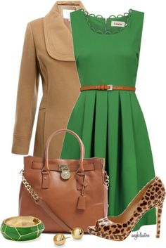 Green dress styling