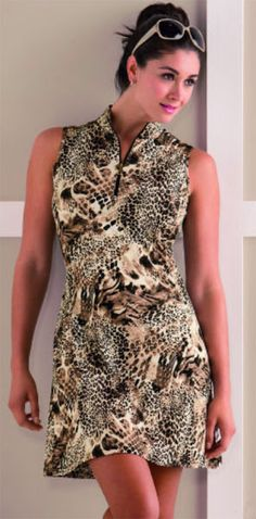 How cute is the new Bette & Court/Swing Ladies Sleeveless Golf Dresses from the Malibu collection.  As always, leopard prints continue to be popular both on and off the golf course.