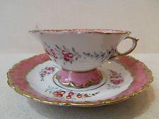 ancienne tasse et sa sous tasse porcelaine allemande meissen decor floral peint