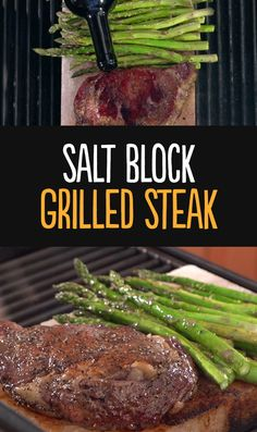 Use a Himalayan salt block to infuse your steaks with natural flavor without making it overly salty. Chef Scott give his step by step recipe for making a juicy rib eye steak with asparagus using your grill and a Himalayan Salt Block.