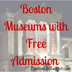 Visit the best museums in Boston without paying a thing! Find out all about free museums in Boston and special free museum days. Boston Vacation, Boston Travel, East Coast Travel, East Coast Road Trip, New England States, New England Travel, Boston In The Fall, Boston Living, Boston Museums