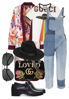 """Untitled #842"" by veronice-lopez on Polyvore featuring FAUSTO PUGLISI, Gucci, RE/DONE, Lack of Color and Yves Saint Laurent"
