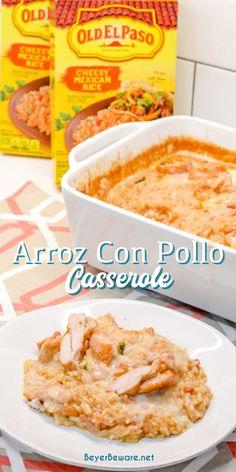 Chicken Cheese And Rice Mexican Recipe, Chicken Cheese Rice Casserole, Cheesy Mexican Rice, Mexican Chicken Casserole, Cheesy Rice, Mexican Chicken Recipes, Best Mexican Recipes, Mexican Dishes, Arroz Recipe