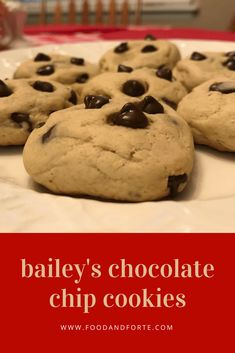 Bailey's Chocolate Chip Cookies, cover