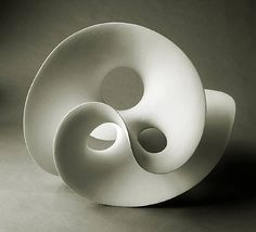Eva Hild -organic ceramic form- This twisting ceramic form is very beautiful. I like the way that it is formed.