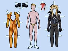 """Says CBC, """"From Ziggy Stardust to Labyrinth, impress your friends by mixing and matching several of Bowie's most iconic looks"""". Description from tektonten.blogspot.co.uk. I searched for this on bing.com/images"""