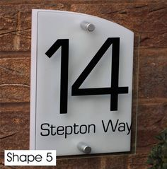 4a49d64213de MODERN HOUSE SIGN PLAQUE DOOR NUMBER STREET GLASS EFFECT ACRYLIC SILVER NAME    eBay