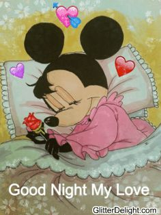 Minnie Mouse Pictures, Mickey Mouse Images, Mickey Mouse Art, Mickey Mouse Wallpaper, Mickey Mouse Christmas, Good Night Dear Friend, Good Night All, Good Night Image, Good Night Qoutes
