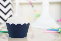 NAVY BLUE Cupcake Wrappers  Set of 24