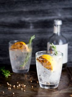 Charred Lemon, Rosemary and Coriander Gin & Tonic  | This is something special! The flavours are so perfectly balanced and it makes a very beautiful start to the evening/afternoon. Well to any occasion!!! Have one at lunch time I won't judge just pour me one too!!! @sprinklessprout