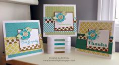 Levels of Light: Skylark - Set of Three Cards with Funky Blossoms stamp set.