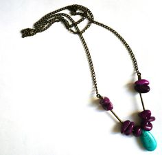 Stone necklace / Beaded stones necklace #accesory #necklace #tribal
