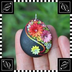 Polymer Clay pendants | Polymer Clay Craft / Polymer Clay Pendant by Veronica Jeong, via ...