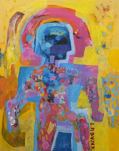 "Tutankhamun by Dariusz Labuzek, 20""H x 16""W x 1.5""D, Acrylic on canvas painting, Stretched, SOLD"