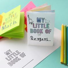 Use this free template to make an 8-page mini foldable book from one sheet of paper! Kids will have a great time coloring their own book! Foldables idea.