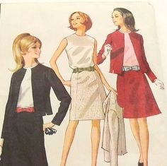 Vintage 1960s Suit Pattern McCalls 8513 Size 10 Bust 31 by Revvie1, $6.00