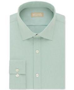 Michael Kors Men's Classic Fit Non-Iron Dress Shirt - Purple 16.5 32/33