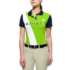 67c3dd2d Ariat English Shirt Womens Taryn Polo Medium Green S/s 10010455 Equestrian  Outfits, Equestrian