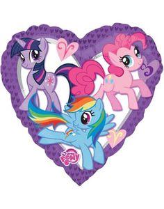 My Little Pony Heart Foil Helium Balloon. My Little Pony Heart Foil Balloon. A must have for any My Little Pony party. My Little Pony Balloons, My Little Pony Fotos, My Little Pony Cumpleaños, Cumple My Little Pony, Little Poney, Imagenes My Little Pony, My Little Pony Friendship, Round Balloons, Heart Balloons