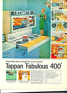 1960 tappan debutante 400 pull out cooktop range photo vintage 1961 tappan fabulous 400 hanging stove range tappan appliances