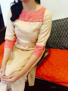 """Originally shared by fashion Look gorgeous with these most beautiful designer salwar kameez. """" Special Latest Order On Whatsapp no 9377221169 Salwar Neck Designs, Churidar Designs, Kurta Neck Design, Kurta Designs Women, Dress Neck Designs, Blouse Designs, Salwar Pattern, Kurta Patterns, Dress Patterns"""