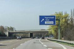 Anfahrt auf Ingolstadt aus Richtung Süden