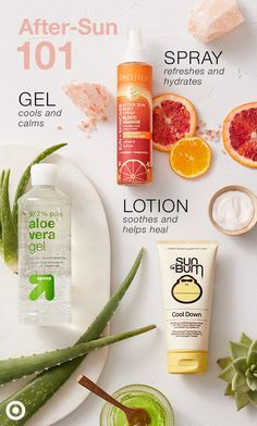 Whether you caught a few rays or a sunburn, treat your skin to some post-sun care (like aloe vera!).