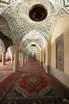 Nasir-ol Molk Mosque - pillars at the Winter Prayer Hall