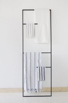 A ladder for linens.
