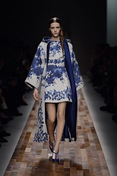 If It's Hip, It's Here: Dressing In Delft. Valentino's New Women's Dresses Take Cues From The Netherland's Classic Blue & White Pattern.