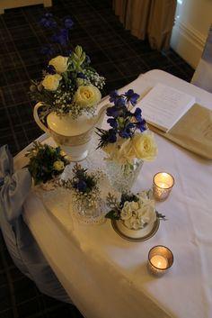 Beautiful Winter Wedding Day at Singleton Lodge for Amanda & Peter Blue Wedding Flowers, Bridal Flowers, Lodge Wedding, Wedding Day, Afternoon Tea Wedding, Blue Bridal, Winter Weddings, Flower Designs, Big Day