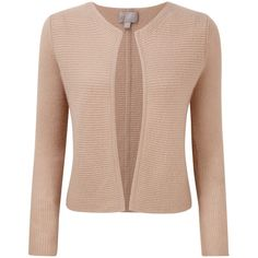 Pure Collection Gwynne Gassato Cashmere Edge To Edge Cardigan (300 BRL) ❤ liked on Polyvore featuring tops, cardigans, sweaters, lightweight cardigan, cashmere cardigan, short-sleeve cardigan, plus size cropped cardigan and beige cardigan