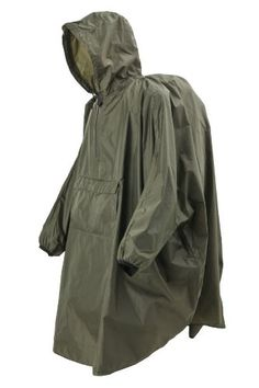 The Snugpak Patrol Poncho is a simple over the head, waterproof, smock style ponch that is a useful addition to any hiking or survival kit that everyone should have. Survival Equipment, Survival Gear, Army Gears, Bushcraft Gear, Rain Poncho, Tactical Clothing, Military Gear, Travel Wardrobe, Stylish Men