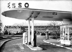 'S-Hertogenbosch, Den Bosch eerste Esso pompstation van Nederland
