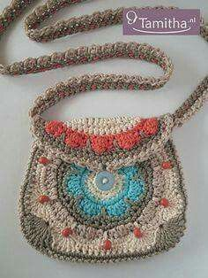 53 ideas for crochet purse english Crochet World, Bag Crochet, Crochet Handbags, Crochet Purses, Crochet Stitches, Crochet Patterns, Boho Bags, Kids Bags, Knitted Bags