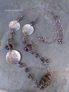 hodgepodgerie.com Smoky Reflections Necklace