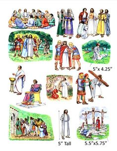 Amazon.com: Story & Life of Jesus 13 Bible Stories Felt Figures for Flannel Board- Precut & Ready to Use!: Everything Else