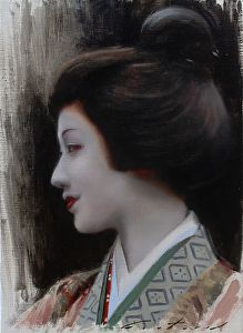 Mamefuji by artist Phil Couture. #Japanese themed #oilpainting found on the FASO Daily Art Show - http://dailyartshow.faso.com