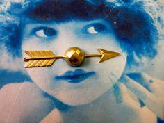 Raw Brass Large Arrow Pendant Charm 892RAW x1 by dimestoreemporium on Etsy