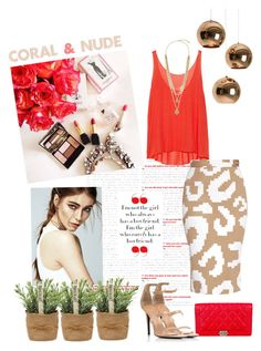 """""""Coral & Nude"""" by salza ❤ liked on Polyvore featuring Tom Dixon, Enza Costa, Chanel, Vivienne Westwood Anglomania, Tamara Mellon and Vince Camuto"""