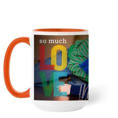 So Much Love Mug, Orange, 15 oz