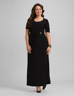 43262876bf6 Plus Size Scoop Neck Maxi Dress