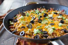 Mexican Rice Skillet is an easy dinner after a busy day. So easy.