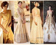 Magic of gold stardust wedding dresses - indian wedding dresses