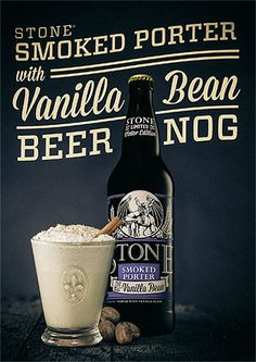 Stone Smoked Porter with Vanilla Bean Beer Nog #DIY #cocktails