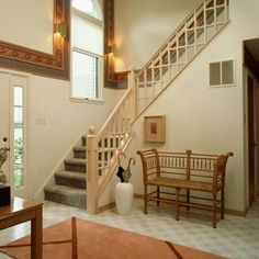 Staircase Designs for Small Homes : Staircase Designs For Small Homes Interior Decors With Slim One Side Handrail And Crossed Wooden Banister Staircase Design Pictures . designs,homes,small,staircase Small Space Staircase, Wooden Staircase Railing, Tiled Staircase, Interior Staircase, Exterior Stairs, Wood Stairs, Modern Staircase, House Stairs, Staircase Ideas