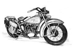 moto harley dessin - Recherche Google
