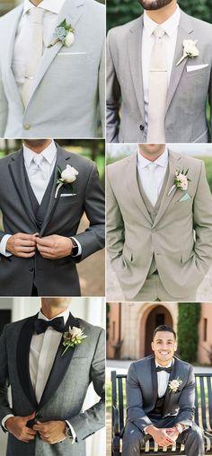 20 trending groom suit ideas for 2019 weddings grooms .- 20 trending groom suit ideas for 2019 weddings groomsmen attire - anzug Best Wedding Suits, Wedding Men, Wedding Ideas, Men Wedding Attire, Suit For Wedding, Grey Wedding Suits For Men, Wedding Suits For Groom, Trendy Wedding, Wedding Hair