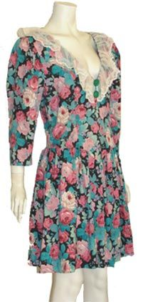 1880s Vintage Rose Print Dress $49 #vintage #80s