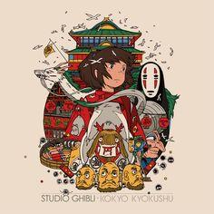 Cool Art: 'Studio Ghibli Kokyo Kyokushu - Spirited Away' by Tyler Stout Studio Ghibli Music, Studio Ghibli Poster, Studio Ghibli Movies, Studio Ghibli Tattoo, Hayao Miyazaki, Totoro, Anime Disney, Personajes Studio Ghibli, Chihiro Y Haku